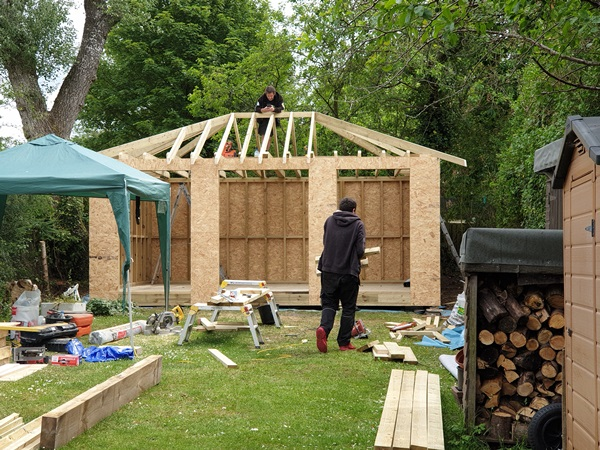 Wood built Garden office in Buntingford