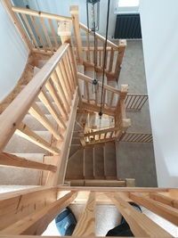 Carpentry for stairs and landings